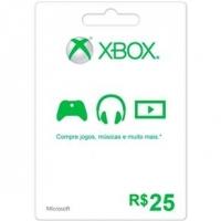 Cartão Xbox Live 25 Microsoft