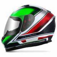 Capacete Fechado Mt Helmets Blade Mugello Black Green Red White Preto