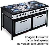 Fogão Industrial Dako Couraçado 6 Bocas c/ Forno