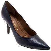 Sapato Croco Stéphanie Classic 3660000 Mirtilo Feminino Azul Marinho