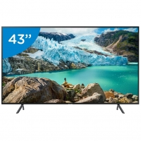 Smart TV LED 43 Ultra HD 4K Samsung UN43RU7100GXZD Com Conversor Digital