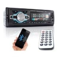 Auto Rádio Som Automotivo Bluetooth Mp3 Player Usb Controle