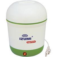 Iogurteira Elétrica Izumi Branca e Verde
