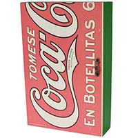 Porta Chaves Coca Cola Urban Madeira com Porta Botellitas