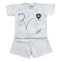 Pijama Curto Torcida Baby Botafogo Tamanho P