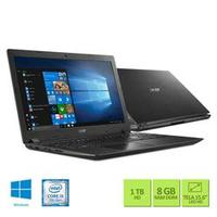 Notebook Acer Aspire 3 A315-53-52ZZ i5-7200U 8GB 1TB 2.5GHz 15.6 Windows 10