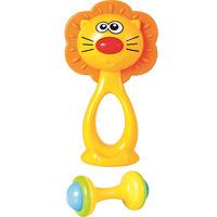 Conjunto de Chocalhos Buba Baby Leão Amarelo