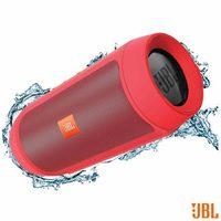 Caixa de Som Bluetooth JBL com Conexão P2 Vermelha Charge + 2