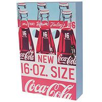Porta Chaves Coca Cola Urban Madeira com Porta Three Bottles