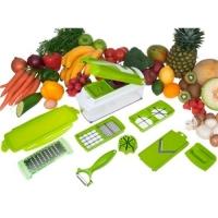 Cortador e Fatiador De Legumes Nicer Dicer Plus Branco e Verde