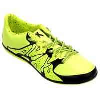 Chuteira Adidas X 15 3 IN Futsal Masculino Verde Limão e Preta
