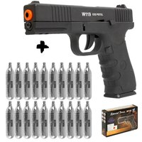 Pistola Airsoft Wingun W119 Slide Metal Co2 4,5Mm + 20 Co2