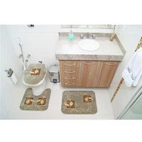 Jogo de Tapetes para Banheiro Rayza Royal Luxury RLN 102 Verde 3 Peças