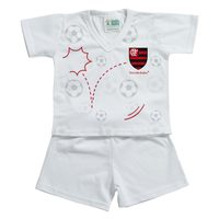 Pijama Curto Torcida Baby Fluminernse Tamanho P
