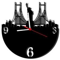 Relógio de Parede Me Creative Decorativo New York Preto