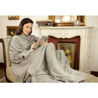 Cobertor de TV Loani com Mangas Solteiro Cinza
