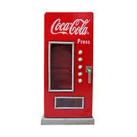 Porta Chaves Coca Cola Urban Madeira Fridge Réplica com Vidro