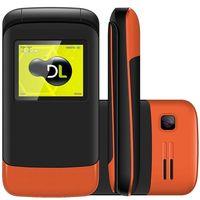 Celular DL YC230 Desbloqueado GSM Dual Chip Laranja
