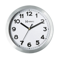 Relógio Parede Herweg Alumínio Branco 20x20x4cm