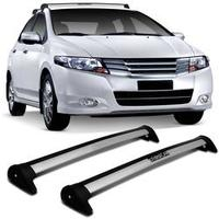 Rack de Teto Travessa L World Honda City 2010 a 2012 Prata Suporta 45KG