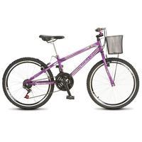Bicicleta Colli Allegra City Aro 24 Aero 21 Marchas Violeta