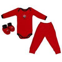 Conjunto Longo Vermelho + Pantufa Torcida Baby Vitória Infantil