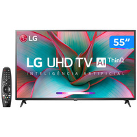 Smart TV LED 55 UHD 4K LG 55UN7310PSC com Wi-Fi Bluetooth HDR