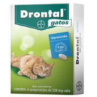 DRONTAL GATOS - cx com 4 comprimidos