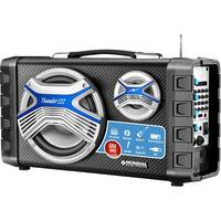 Caixa Acústica Mondial Thunder MCO-03 III Bluetooth 50W + Microfone Sem Fio e Bateria Recarregável