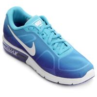 Tênis Nike Air Max Sequent Feminino Azul Piscina e Branco