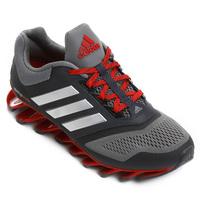 Tênis Adidas Springblade 2 Masculino Cinza e Vermelho
