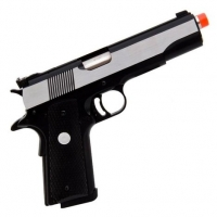 Pistola de Airsoft GBB Green Gas MK-IV 70 R29 Black e Silver Full Metal