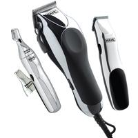 Kit Máquina de Corte Wahl Clipper Home Barber Prata e Preta 220V