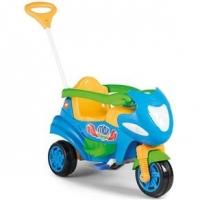 Moto Infantil Max 2 em 1 com Buzina Calesita 946 Azul
