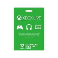 Live Card Microsoft 12 Meses Gold Xbox 360