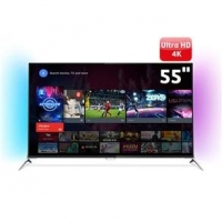 Smart TV 3D LED 55'' 4K Philips 55PUG7100/78 + 4 Óculos 3D