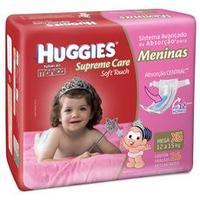 Fraldas Huggies Turma da Mônica Supreme Care Soft Touch Meninas Tam XG 26 unid