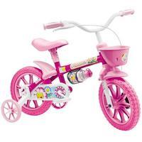 Bicicleta Colli Flower Aro 12 Infantil Rosa