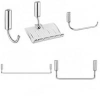 Kit Para Banheiro Com 5 Peças Docol Idea Prata