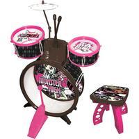 Bateria Infantil Musical Fun Monster High MH1321 Rosa e Preta