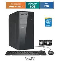 Computador Desktop Easypc 5762 Core I7 3.9GHz 8GB 1TB Windows 10