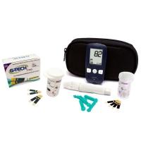 Kit Medidor de Glicose G-Tech + Caixa de Tiras Para Medição Reagentes 50 Unidades