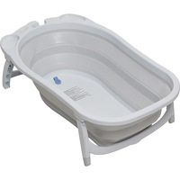 Banheira para Bebê Dobrável Dzieco Karibu Branco e Cinza