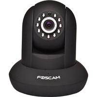 Câmera Foscam IP Wireless 1.0 MP Pan Tilt FI9821W Preta