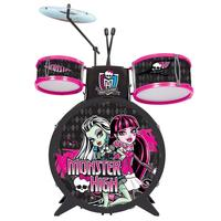 Bateria Infantil Monte Líbano Monster High Preta e Rosa