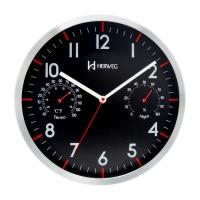 Relógio Parede Herweg Preto 31x31x4cm