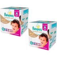 Kit Fralda Pampers Premium Care Jumbo Tamanho G 136 Unidades
