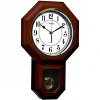 Relógio de Parede com Pendulo Herweg Natural Castanho 45x29x7cm