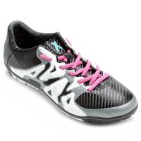 Chuteira Adidas X 15.3 TF Society Masculina Preta e Branca