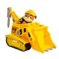 Boneco com Veículo Sunny Patrulha Canina Rubble Diggin Bulldozer